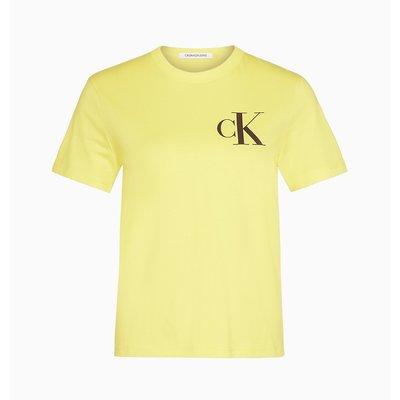 CALVIN KLEIN Ck back logo tee solar yellow