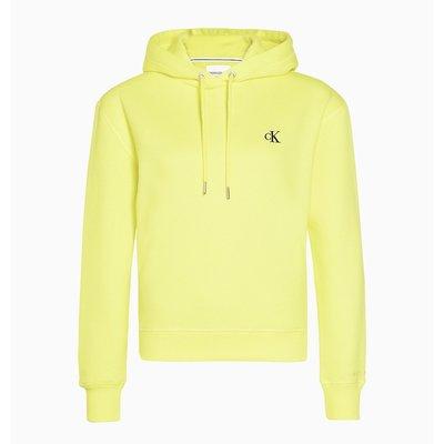 CALVIN KLEIN Ck embroidery regular hoodie solar yellow