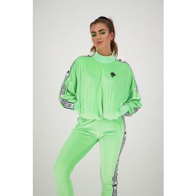 REINDERS Tracking sweater velvet neon green