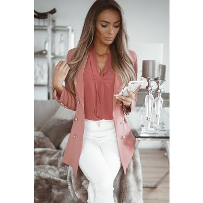 JAIMY Luca long blazer dark blush