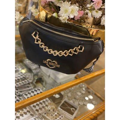 LOVE MOSCHINO Chain heart belt bag