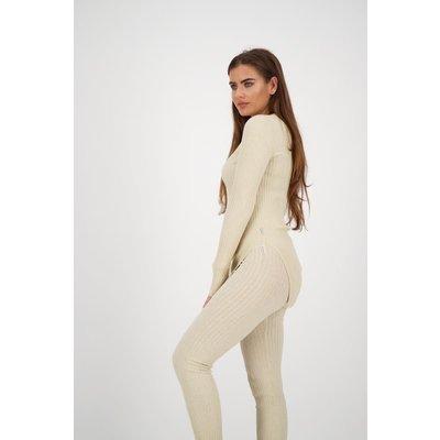 REINDERS Twin set pants lurex crème