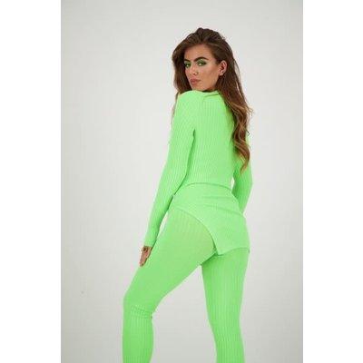 REINDERS Twin set sweater neon green