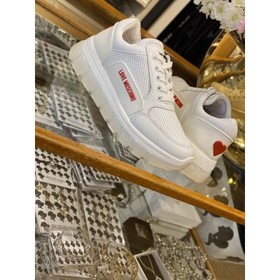 LOVE MOSCHINO Sneakers tassel 50 white