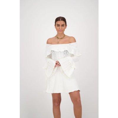 REINDERS Josephine ruffle dress white