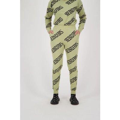 REINDERS Pants all over print sage green
