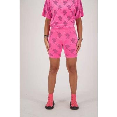 REINDERS Bikershort velvet logo mania pink neon