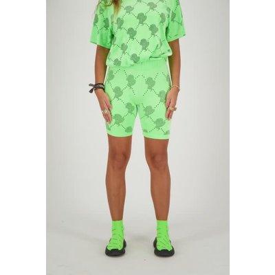 REINDERS Bikershort velvet logomania  neon green