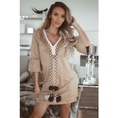 JAIMY Dress Pomeline camel