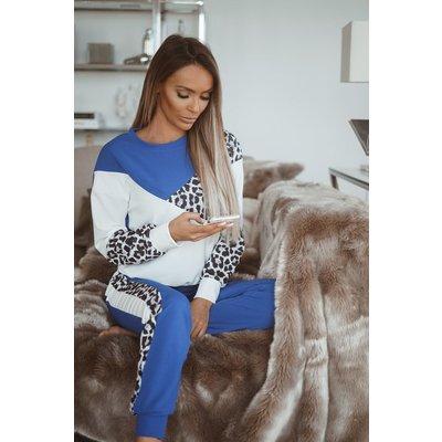 JAIMY Lounge set leopard set kingsblue