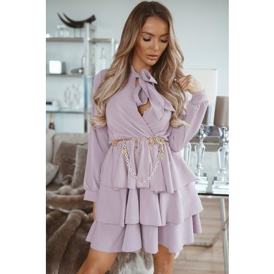 JAIMY Dress Ruffle lila