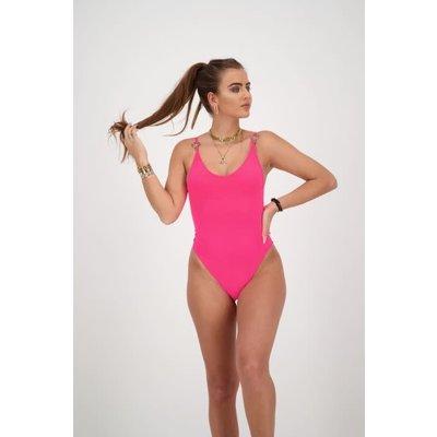 REINDERS Swim  suit headlogo solid colour pink neon