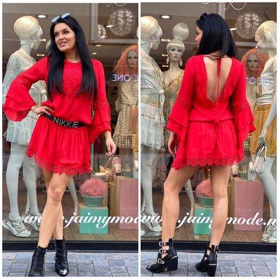 JAIMY Beach babe dress Red