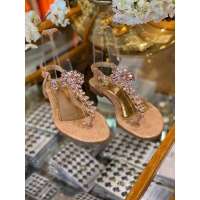 JAIMY Sparkle Forever sandals rosegold