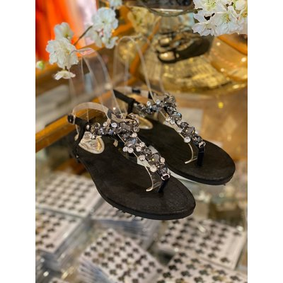 JAIMY Shine Diamond sandals black