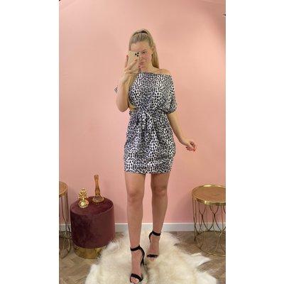 JAIMY Dress nana Leopard grey