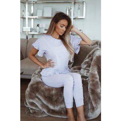 JAIMY Ruffle comfy set lila