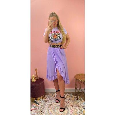JAIMY Olcay ruffle skirt lila