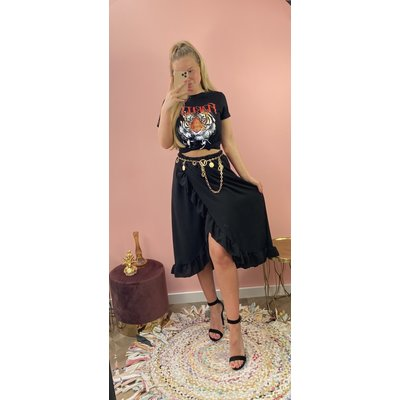 JAIMY Olcay ruffle skirt black