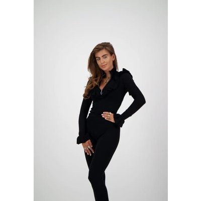 REINDERS Ruffle vest black