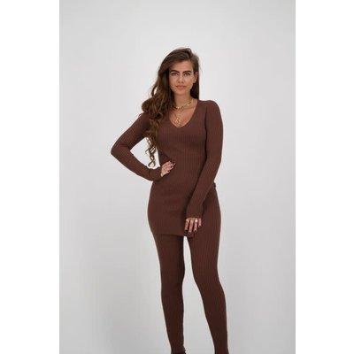 REINDERS Twin set sweater dark brown