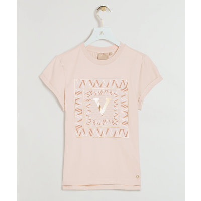 JOSH V Dora Square t shirt lily pink