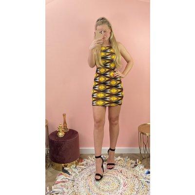 JAIMY Dress print yellow