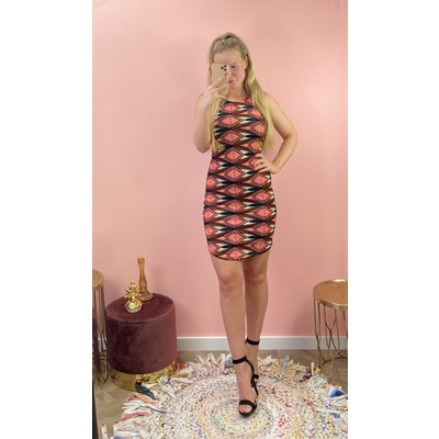 JAIMY Dress print coral
