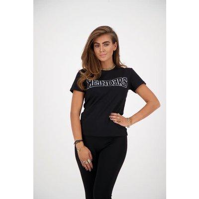 REINDERS T shirt slim fit diamonds wording black