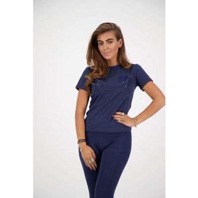 REINDERS T shirt slim fit diamond headlogos dark blue