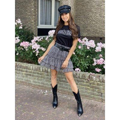 JAIMY Marie Leopard skirt black