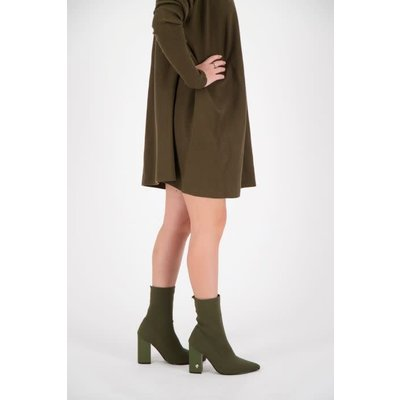 REINDERS Sock ankle boots dark olive