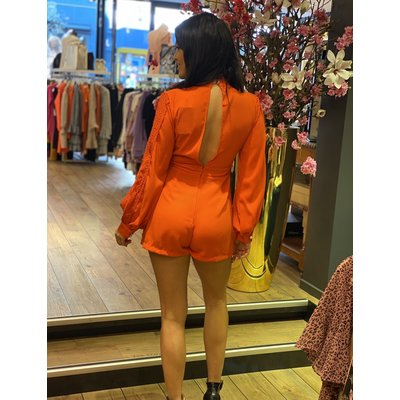 JAIMY Open back jumpsuit orange