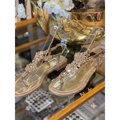 JAIMY Ibiza diamond sandals gold