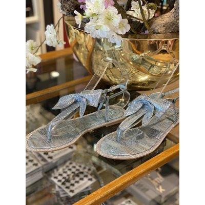 JAIMY Diamond bow sandals blue