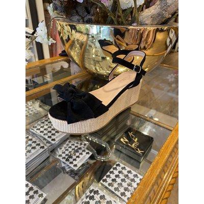 JAIMY Plateau bow sandals Black