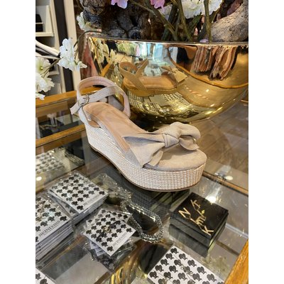 JAIMY Plateau bow sandals Beige