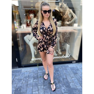 JAIMY Copy of LOLA leopard jumpsuit LONG SLEEVE ARMY GREEN