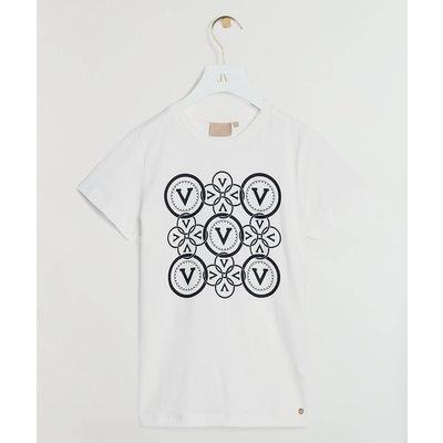 JOSH V Zoe Circle V Print T-shirt White