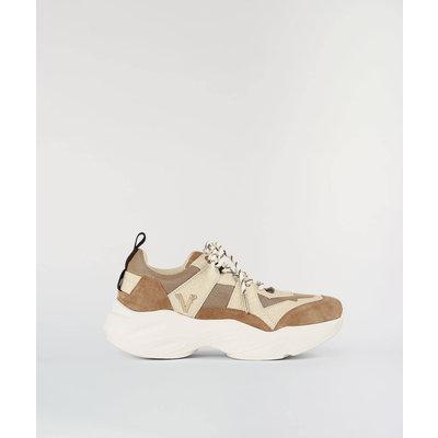JOSH V Lacy Sneaker Almond