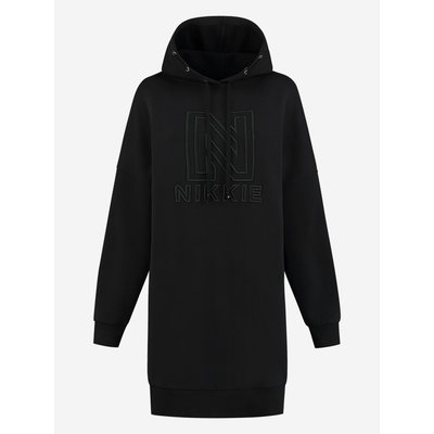 NIKKIE Oversized nikkie hoodie dress black