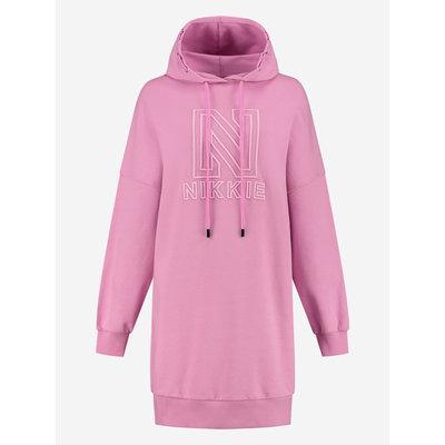 NIKKIE Oversized nikkie hoodie dress lollipop