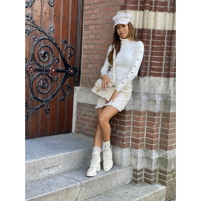 JAIMY Button col top white