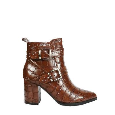 JAIMY Mascha studded croco boot CAMEL