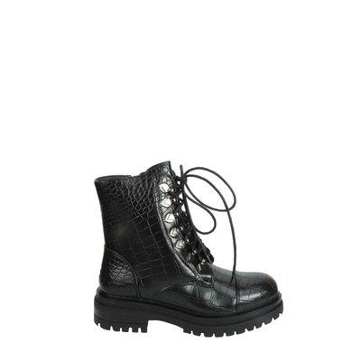JAIMY Lena croco boots BLACK