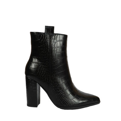JAIMY Sophia croco ankel boot BLACK