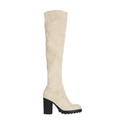 JAIMY Novalie overknee boots beige