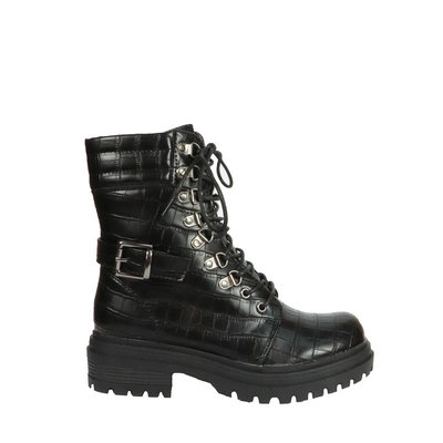 JAIMY Bella croco veter boots BLACK