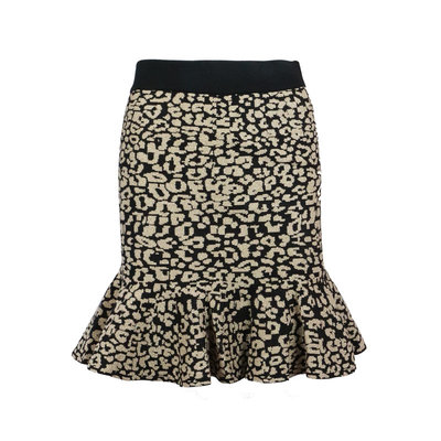 JAIMY When i need you leopard skirt black