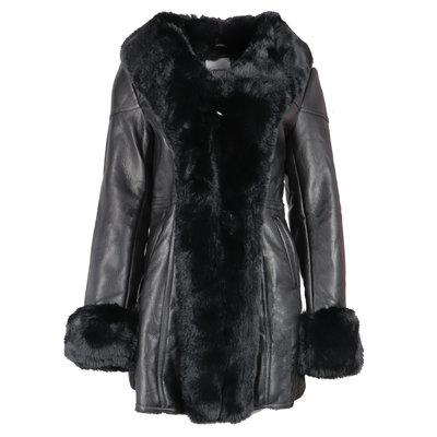 JAIMY The perfect lammy coat black
